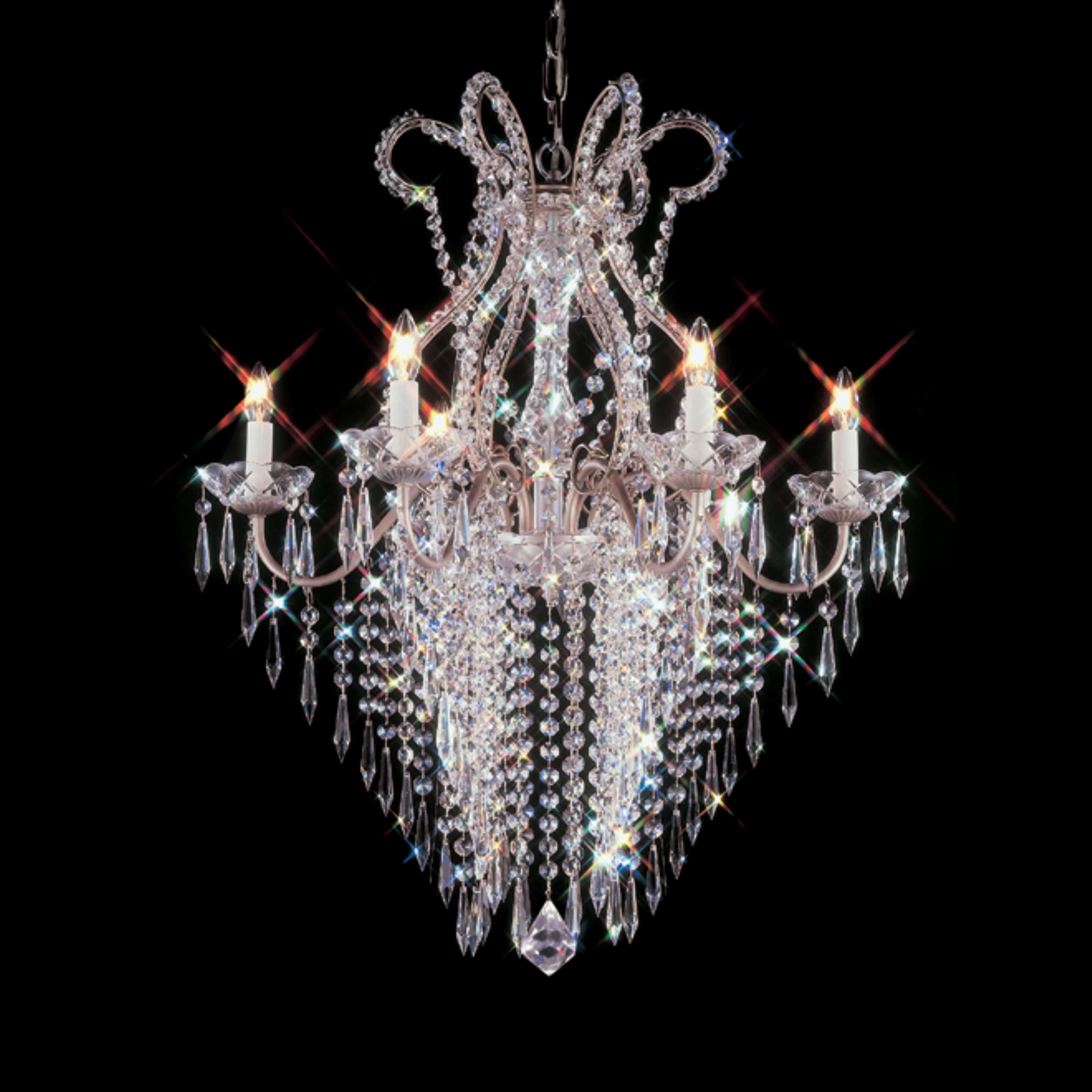 Marseilles 24 inch hanging chandelier with clear crystal 4500 6 marseilles 24 inch hanging chandelier with clear crystal 4500 6 aloadofball Images